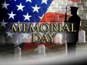 City Offices will be closed Monday, May 31, 2021 in Observance of the Memorial Day Holiday