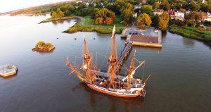 The Kalmar Nyckel, docked in Historic New Castle